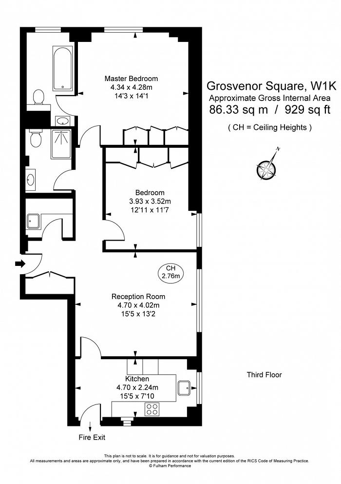 Grosvenor Square, Mayfair, W1K Floorplan