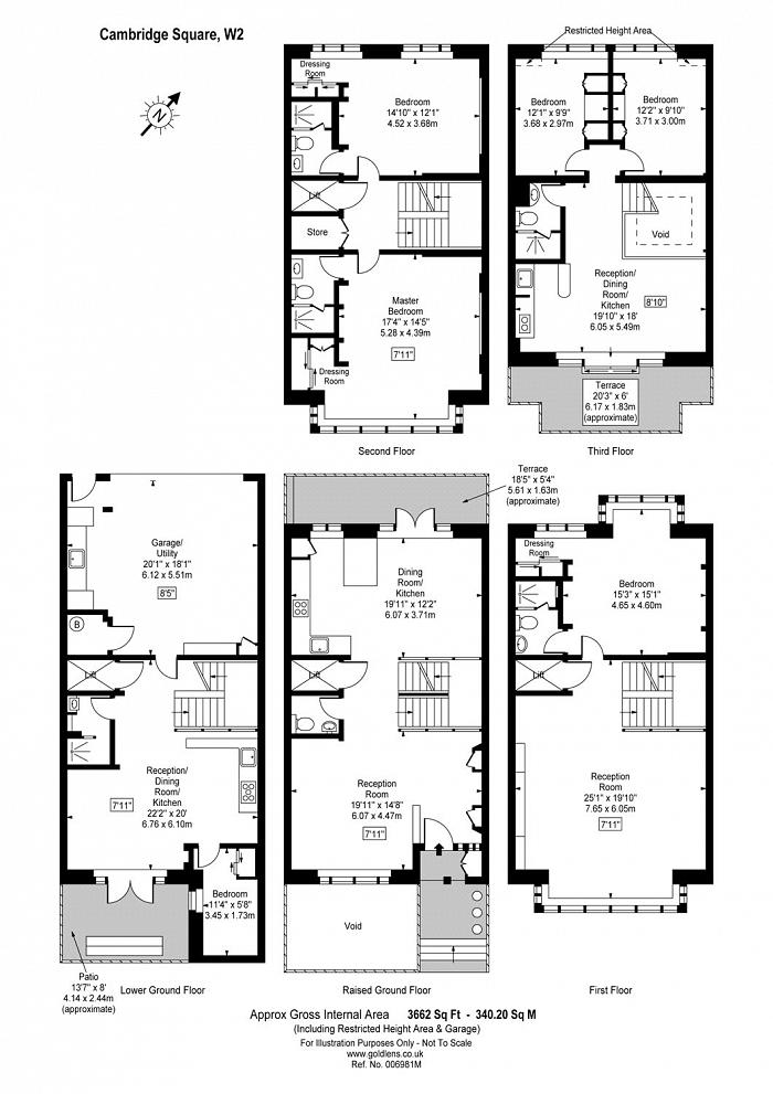 Cambridge Square, Hyde Park, W2 Floorplan