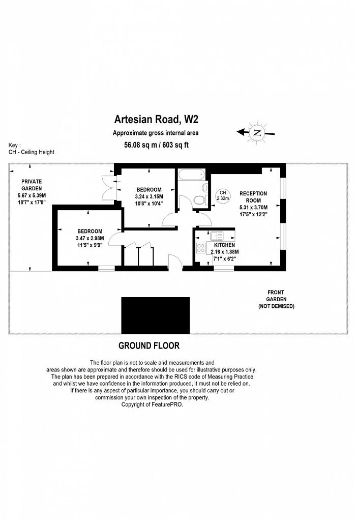 Artesian Road, Artesian Village, W2 Floorplan