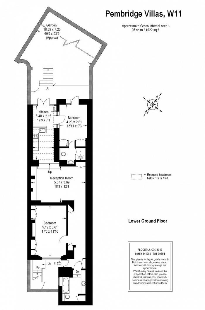 Pembridge Villas, Notting Hill, W11 Floorplan