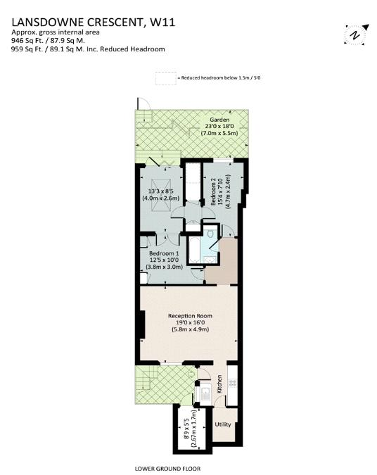 Lansdowne Crescent, Notting Hill, W11 Floorplan