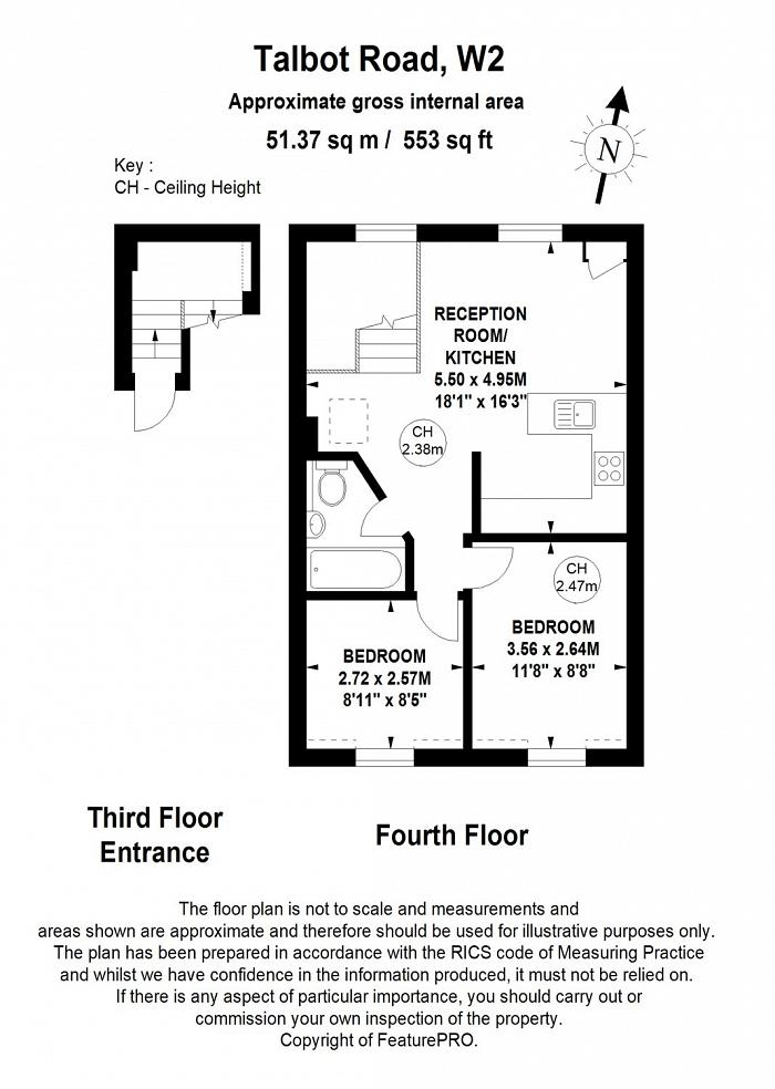 Talbot Road, Notting Hill, W2 Floorplan