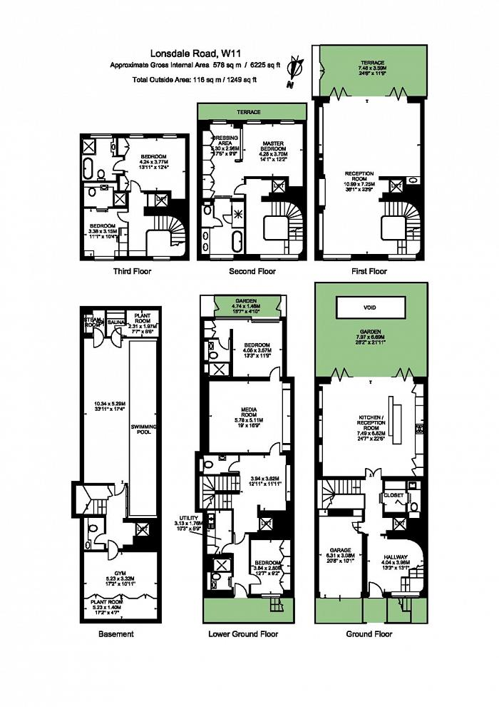 Lonsdale Road, Notting Hill, W11 Floorplan