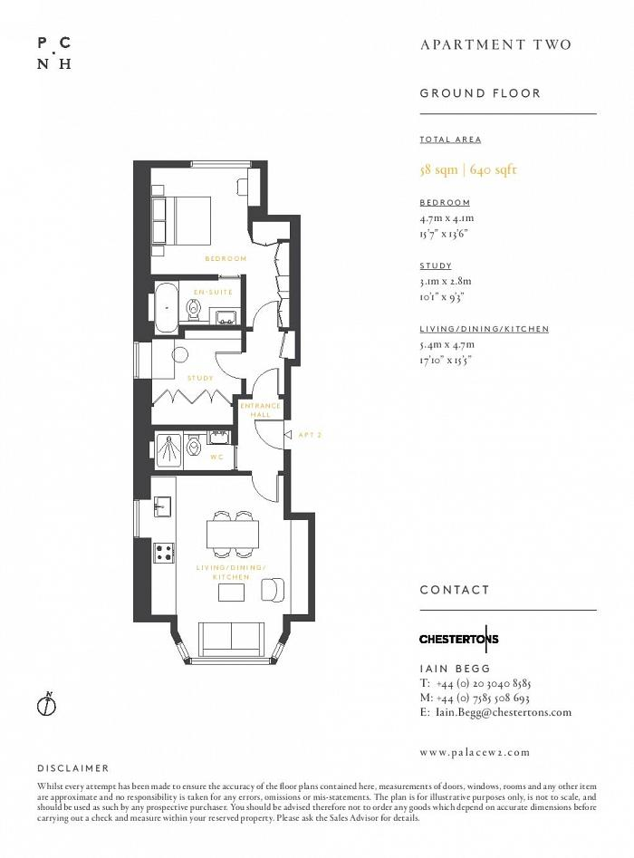 Five Palace Court, Notting Hill Gate, W2 Floorplan