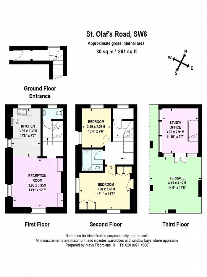 St Olafs Road, Munster Village, SW6 Floorplan