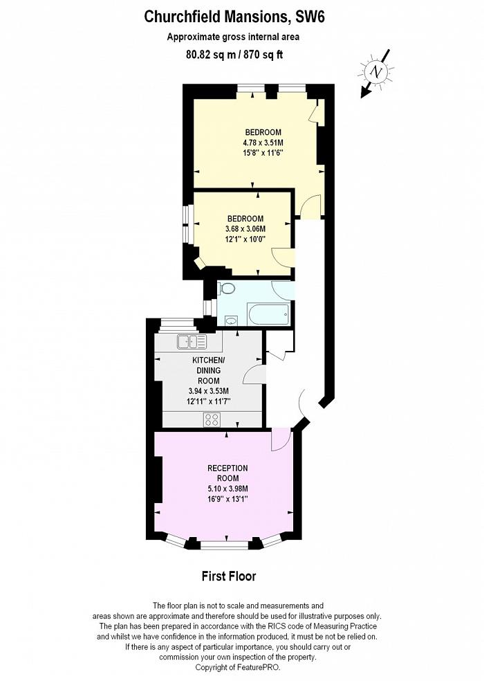 Churchfield Mansions, 321-345 New Kings Road, SW6 Floorplan