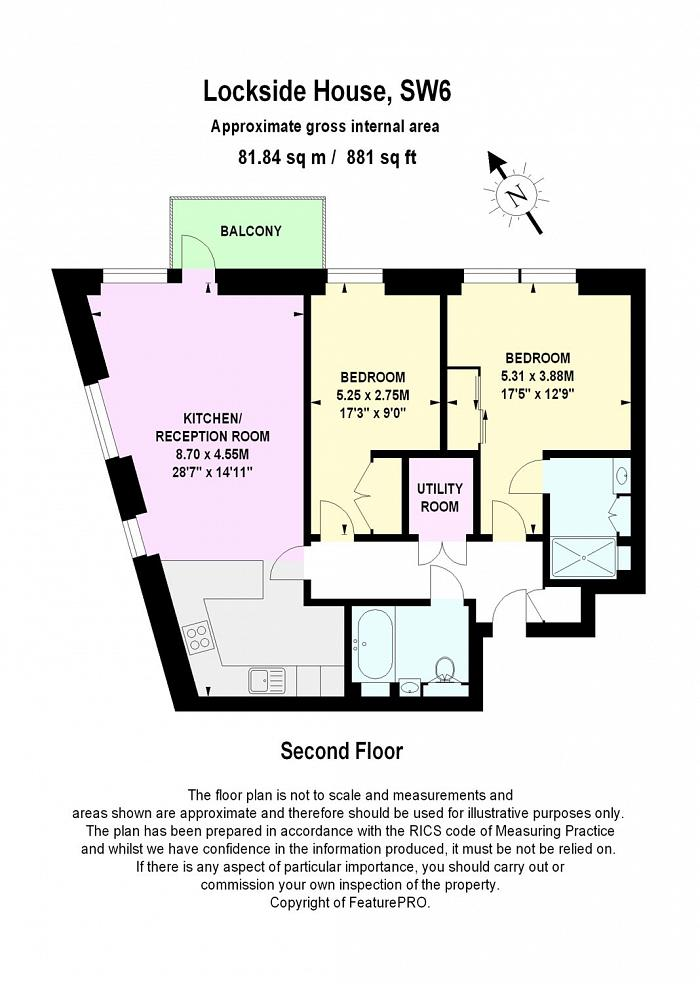 Lockside House, Chelsea Creek, SW6 Floorplan