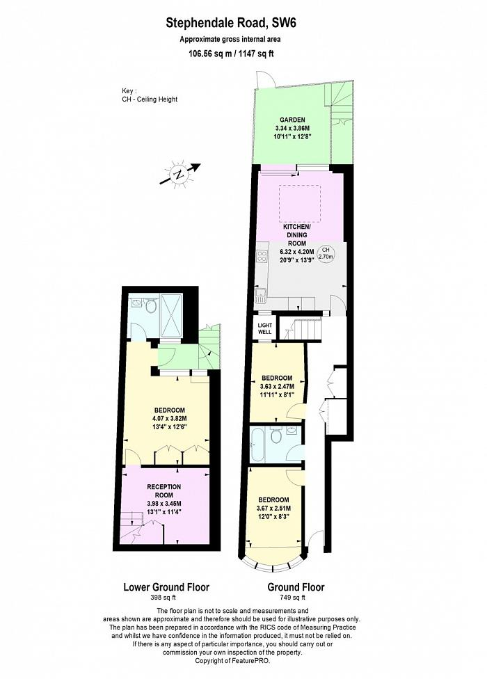 Stephendale Road, Sands End, SW6 Floorplan