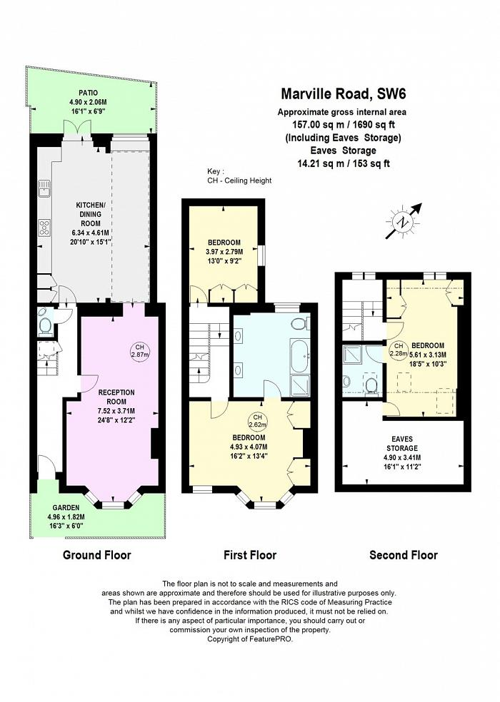 Marville Road, Parsons Green, SW6 Floorplan
