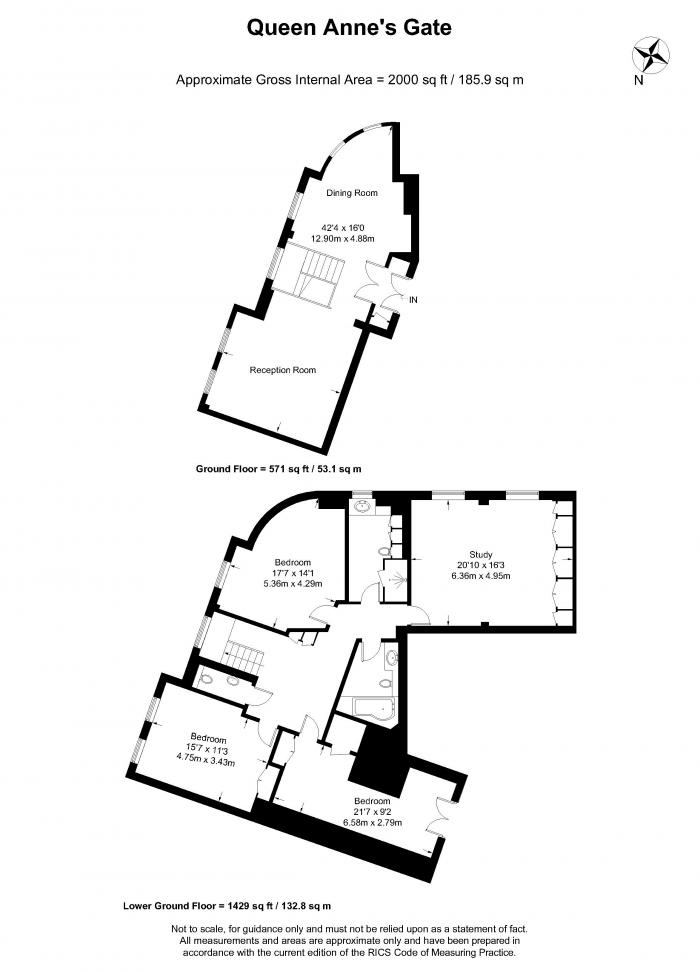 Queen Annes Gate, St James's, SW1H Floorplan