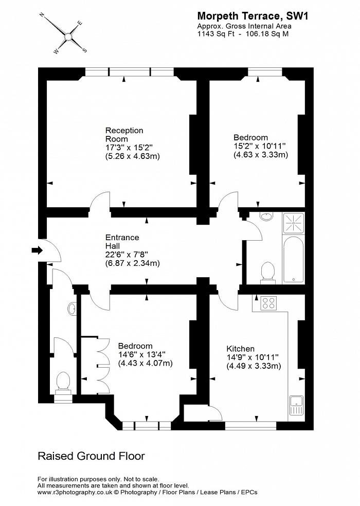Morpeth Terrace, Westminster, SW1P Floorplan