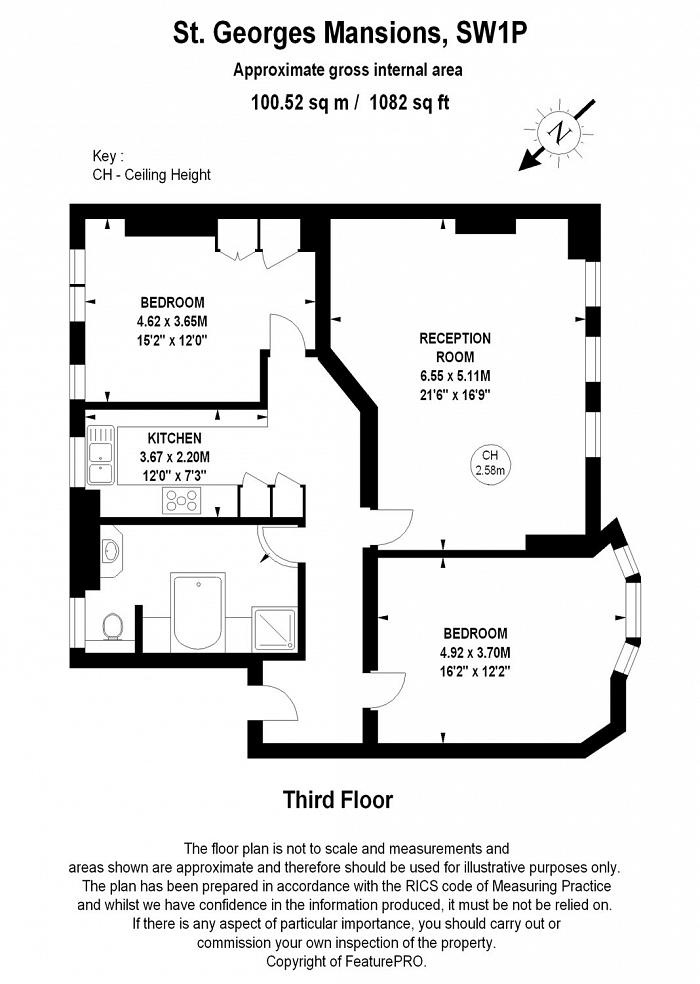 St Georges Mansions, Causton Street, SW1P Floorplan