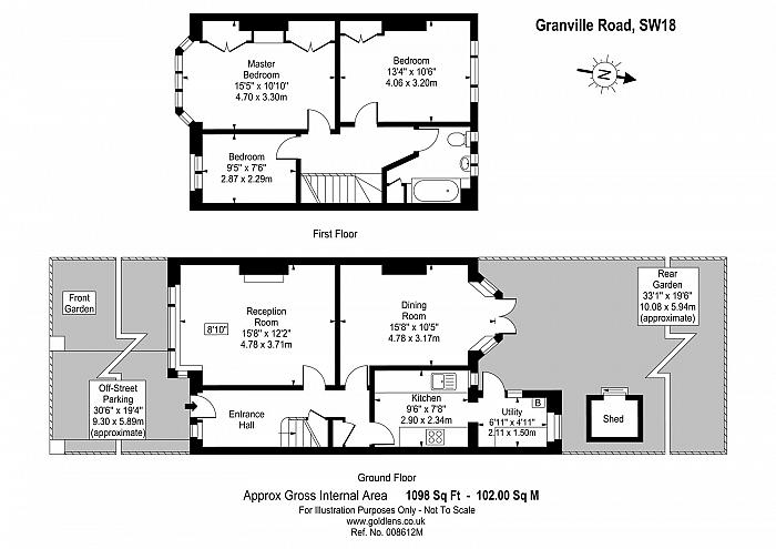 Granville Road, West Hill, SW18 Floorplan