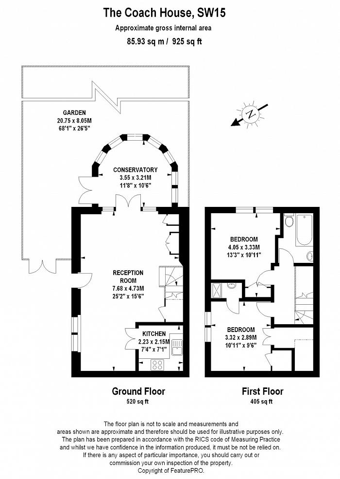 The Coach House, 55 Putney Hill, SW15 Floorplan