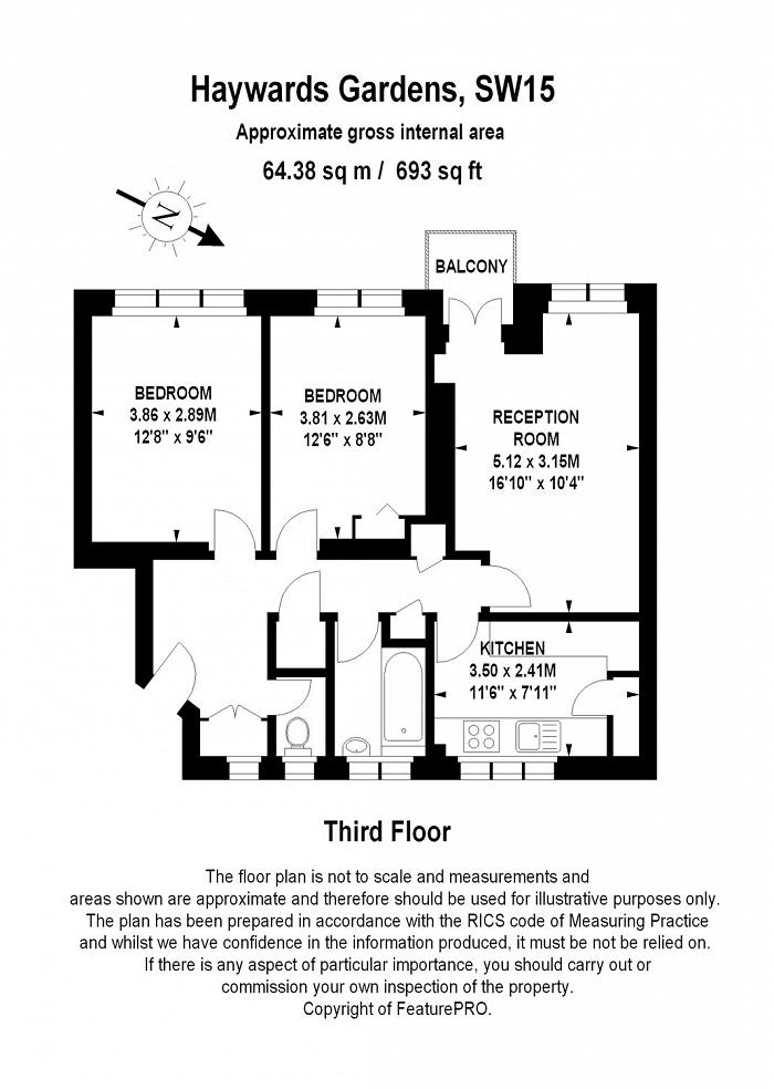 Hayward Gardens, Kingston Vale, SW15 Floorplan