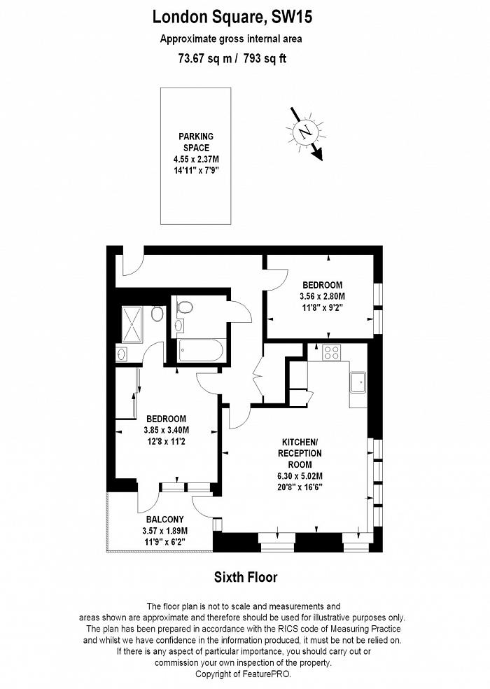 London Square, 121 Upper Richmond Road, SW15 Floorplan