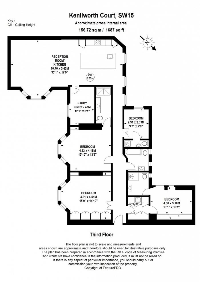 Kenilworth Court, Lower Richmond Road, SW15 Floorplan