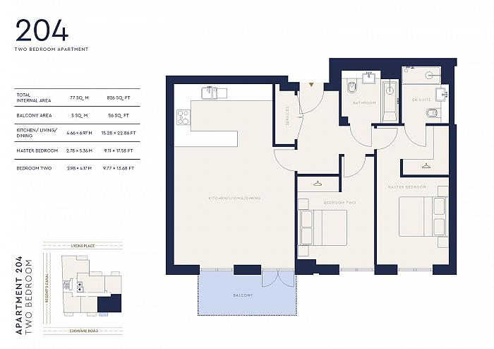 Lyons Place, St John's Wood, NW8 Floorplan