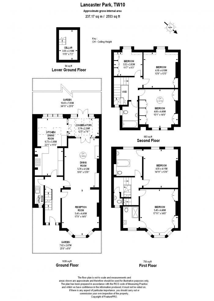 Lancaster Park, Richmond, TW10 Floorplan