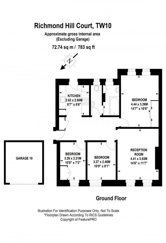 Richmond Hill Court, Richmond, TW10 Floorplan