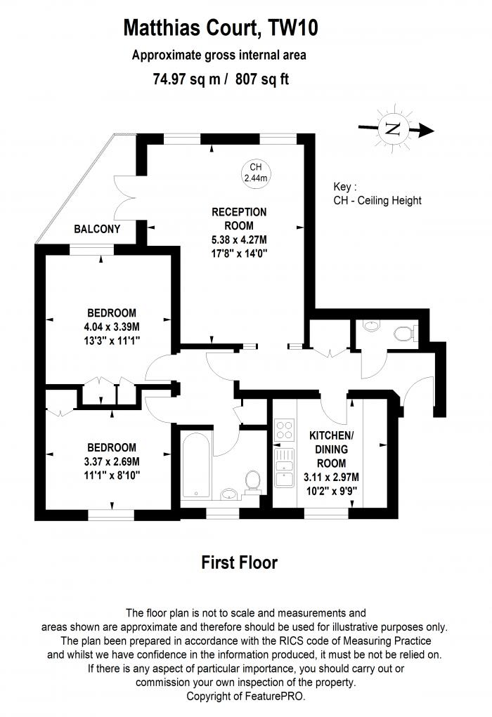 Matthias Court, 119 Church Road, TW10 Floorplan