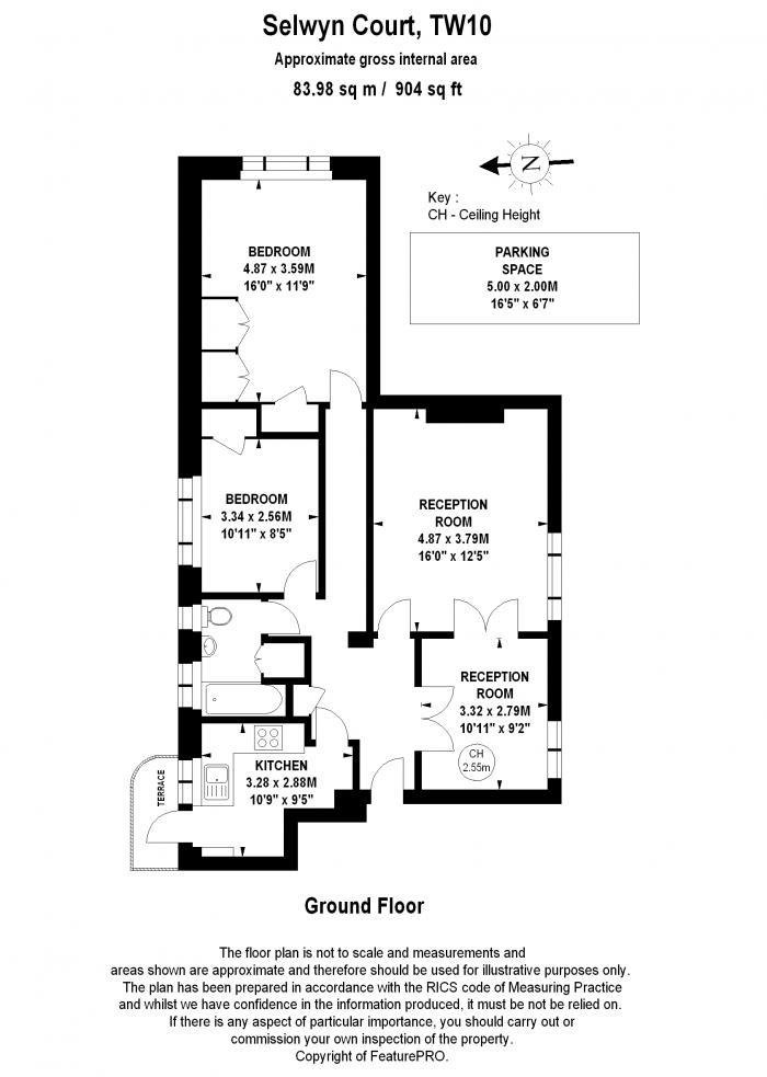 Selwyn Court, Church Road, TW10 Floorplan