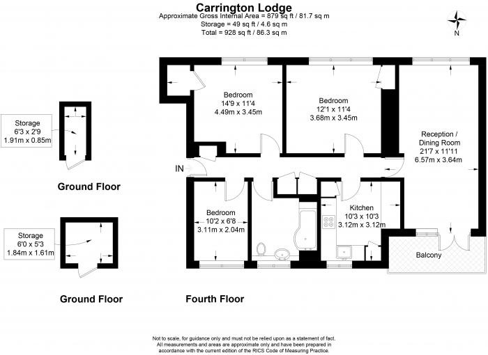Carrington Lodge, Sheen Road, TW9 Floorplan