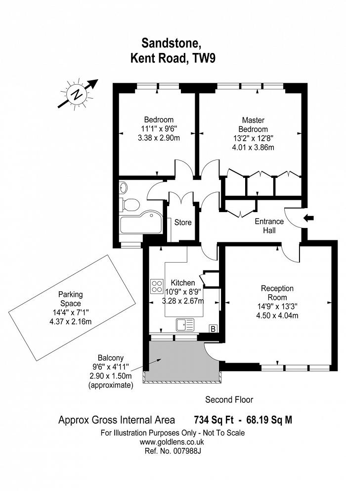Kent Road, Kew, TW9 Floorplan