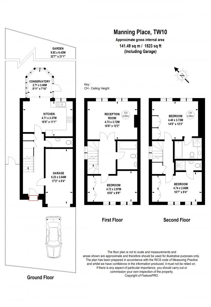 Manning Place, Richmond, TW10 Floorplan