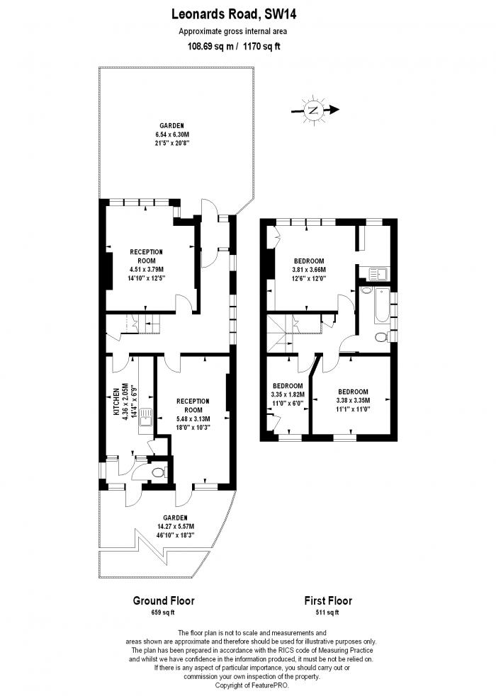St Leonards Road, Mortlake, SW14 Floorplan