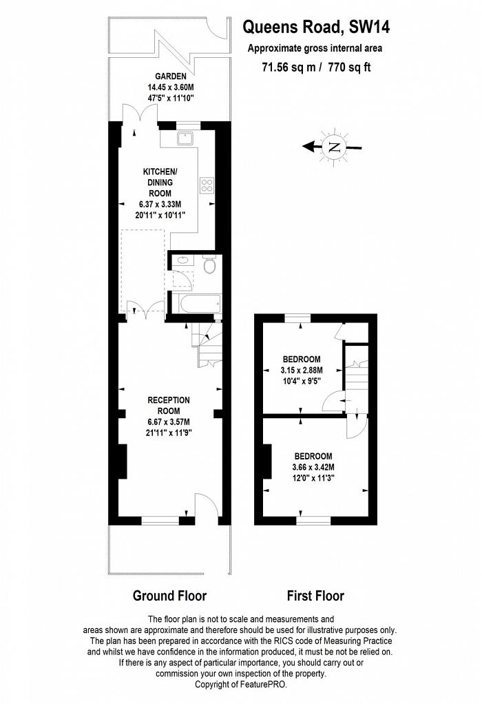 Queens Road, East Sheen, SW14 Floorplan