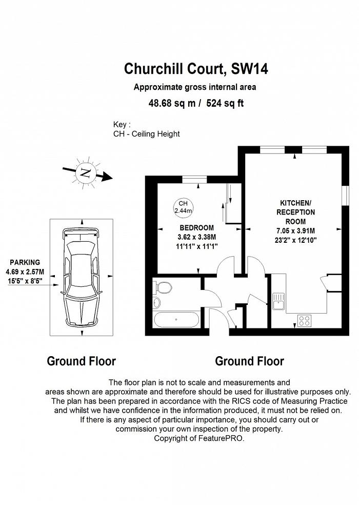 Churchill Court, 2 Wadham Mews, SW14 Floorplan