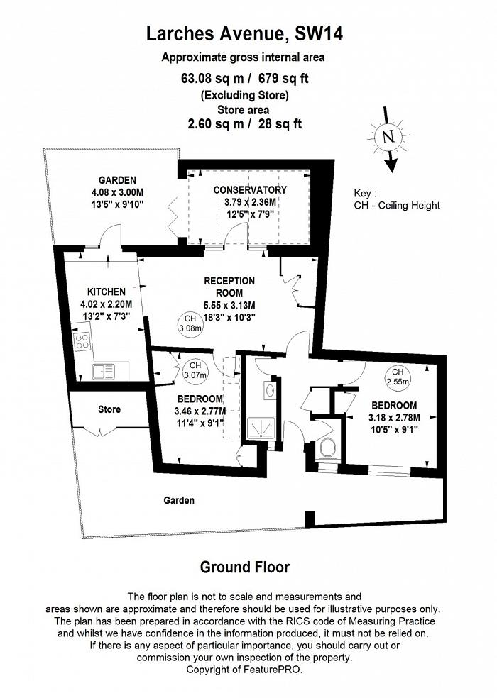 Larches Avenue, East Sheen, SW14 Floorplan