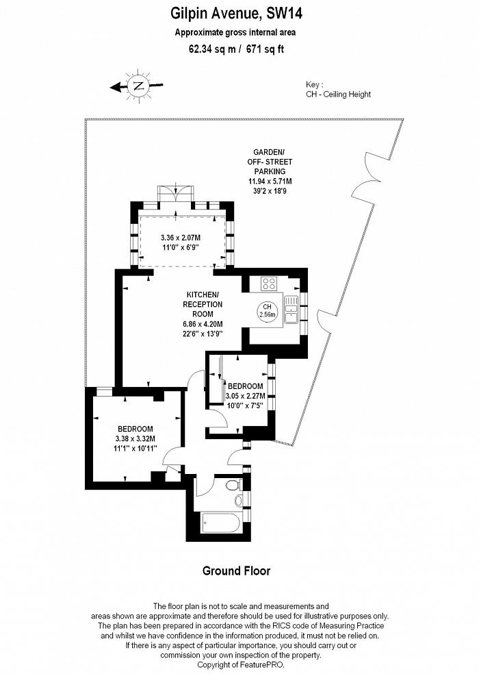 Gilpin Avenue, Mortlake, SW14 Floorplan