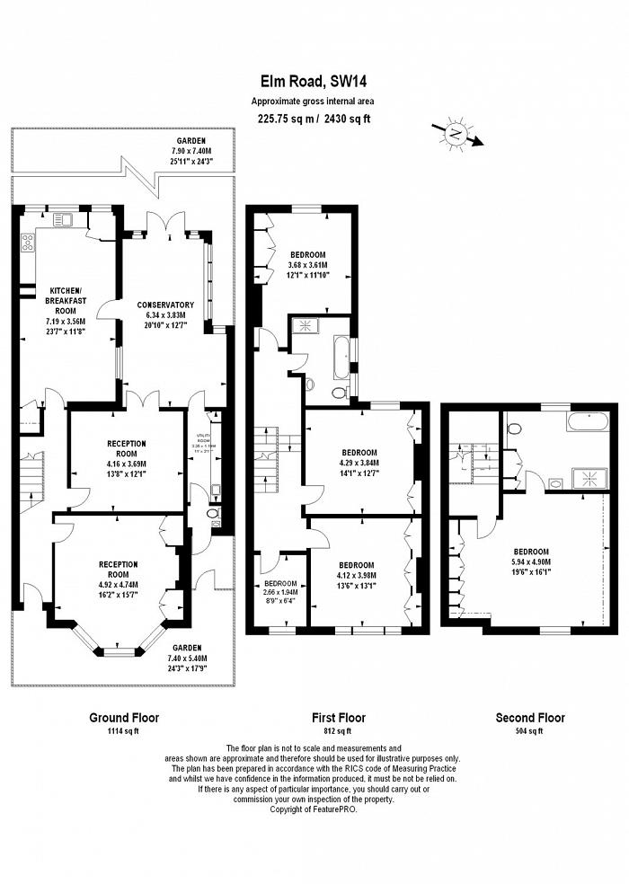 Elm Road, East Sheen, SW14 Floorplan