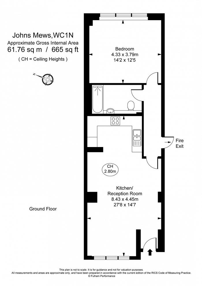 Johns Mews, Bloomsbury, WC1N Floorplan
