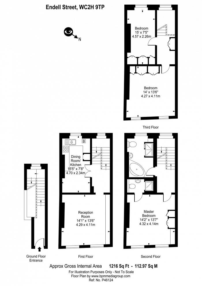 Endell Street, Central St Giles, WC2H Floorplan
