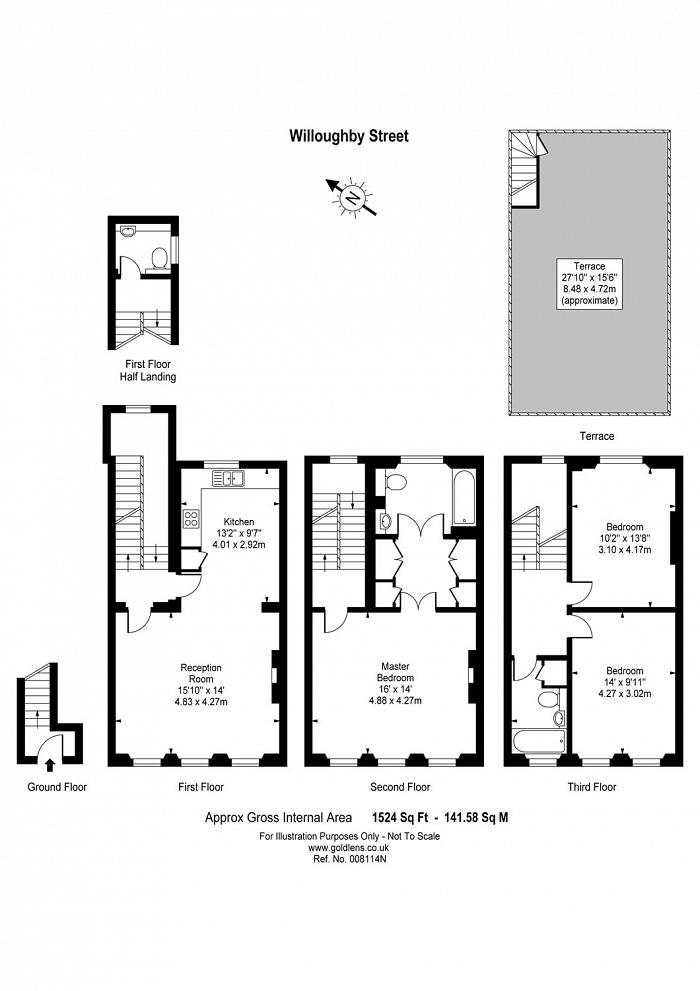 Willoughby Street, Bloomsbury, WC1A Floorplan