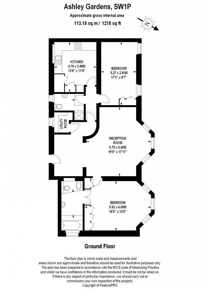 Ashley Gardens, Thirleby Road, SW1P Floorplan
