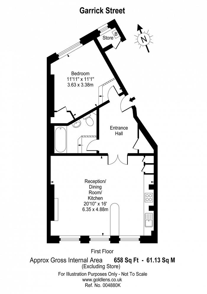 Garrick Street, Covent Garden, WC2E Floorplan
