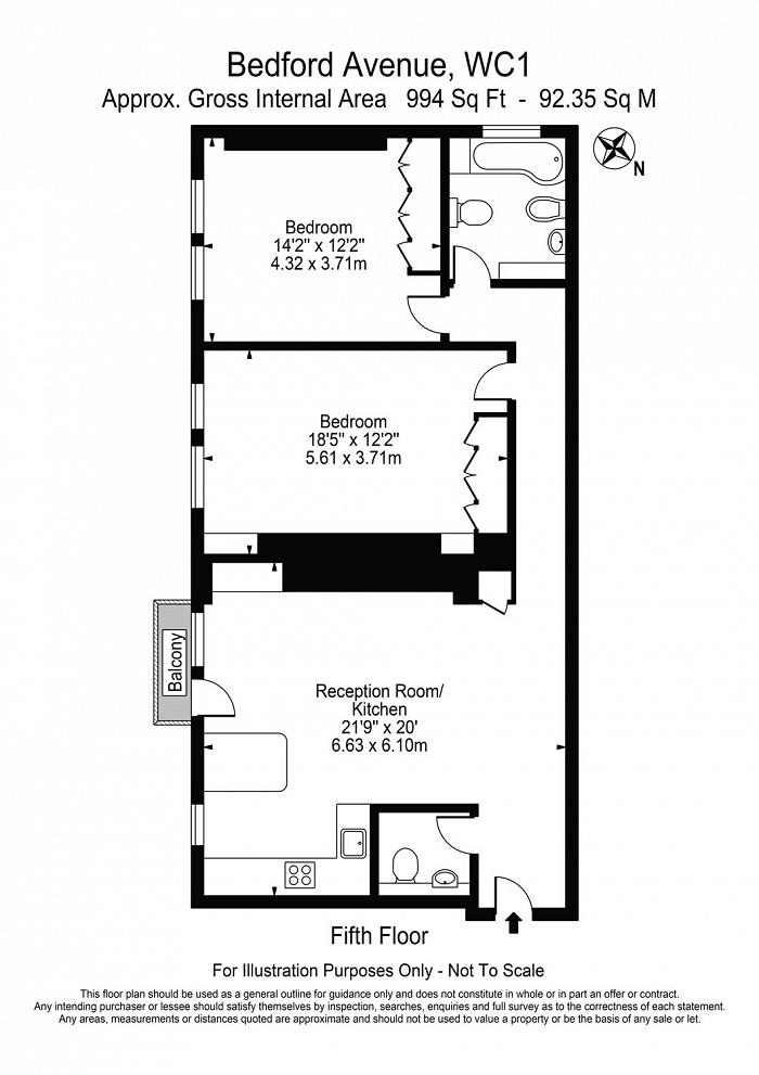 Bedford Court Mansions, Bedford Avenue, WC1B Floorplan