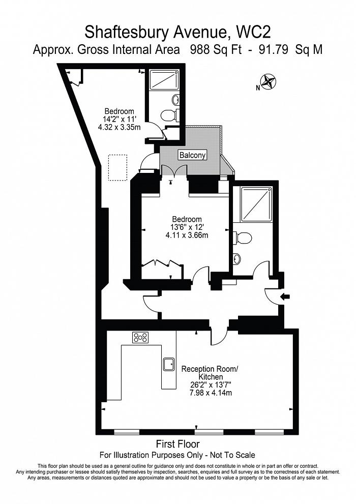 Leader House, 166-170 Shaftesbury Avenue, WC2H Floorplan