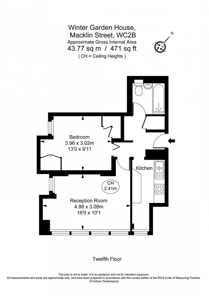 Winter Garden House, 2 Macklin Street, WC2B Floorplan
