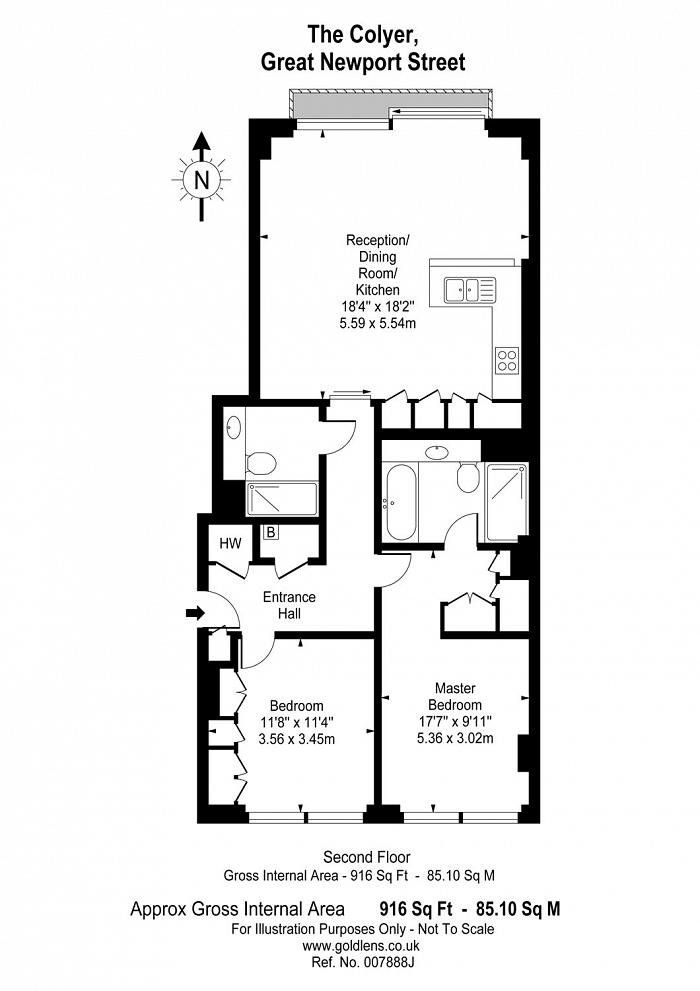 Great Newport Street, Central St Giles, WC2H Floorplan