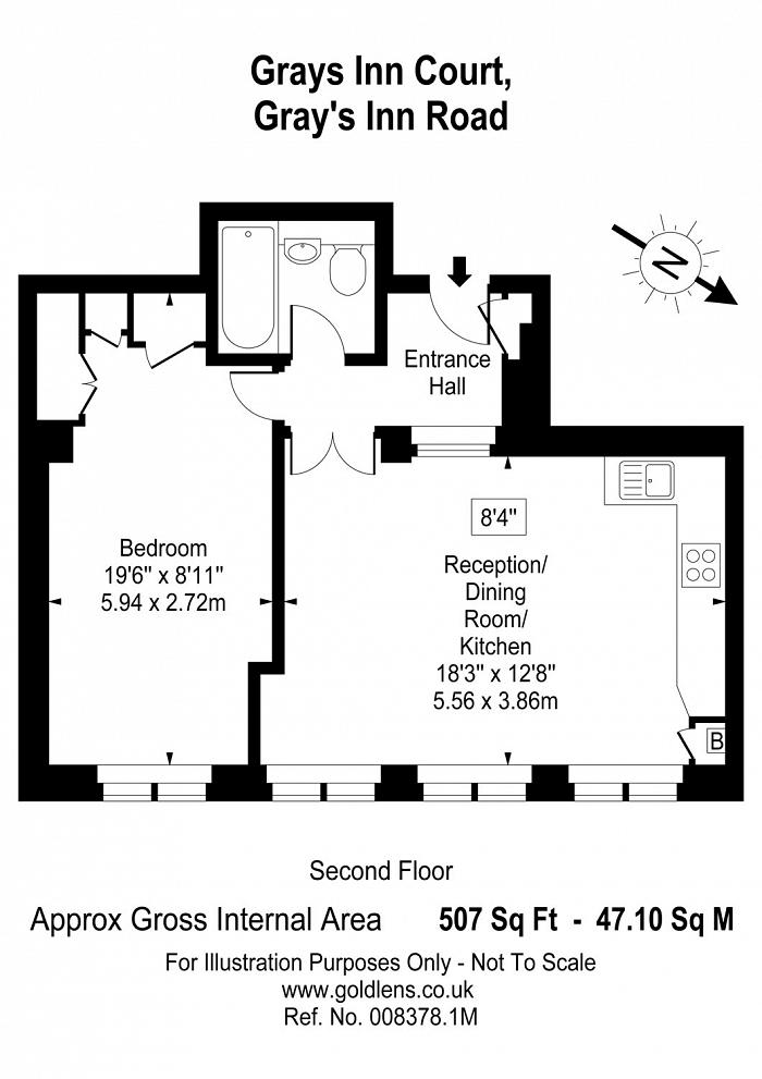 Grays Inn Court, 51-53 Gray's Inn Road, WC1X Floorplan