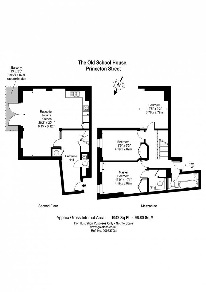 The Old School, Princeton Street, WC1R Floorplan