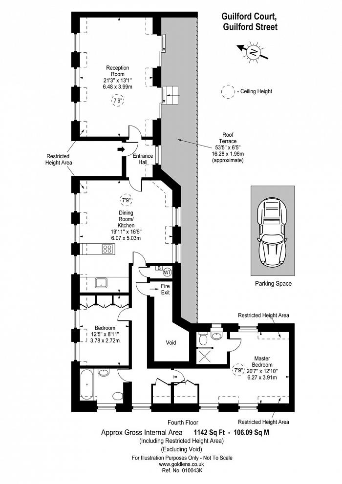 Guilford Court, 51 Guilford Street, WC1N Floorplan