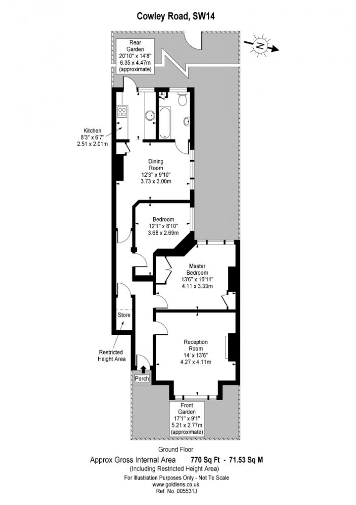 Cowley Road, Mortlake, SW14 Floorplan