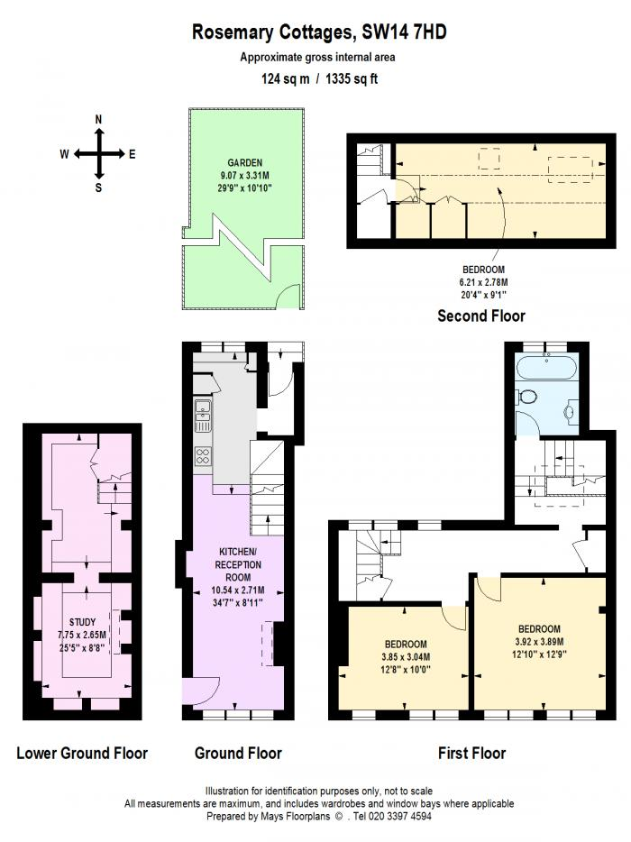 Rosemary Cottages, Mortlake, SW14 Floorplan