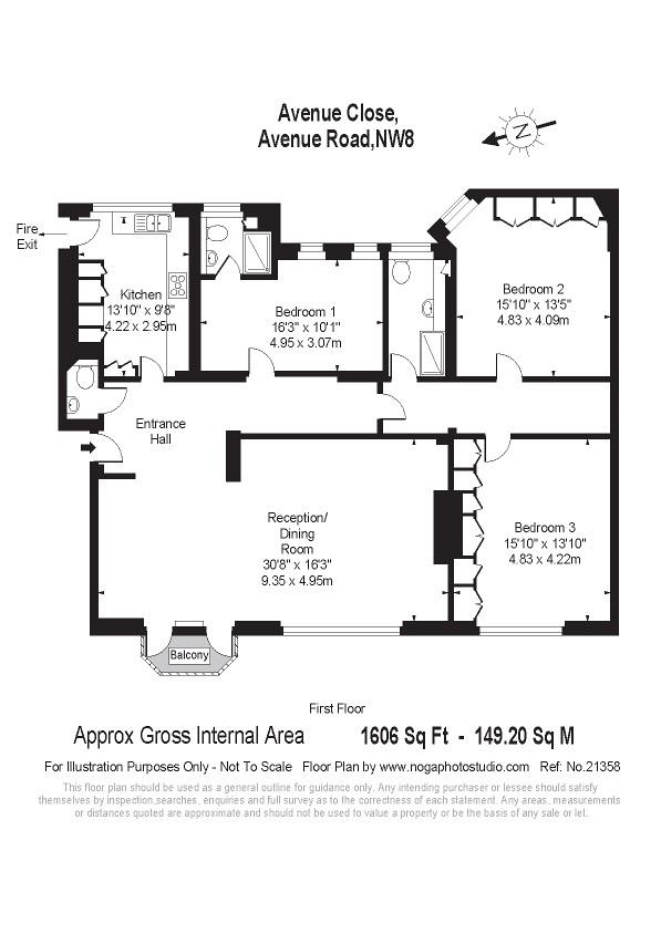 Avenue Close, Avenue Road, NW8 Floorplan